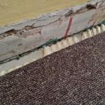 carpet glued 1